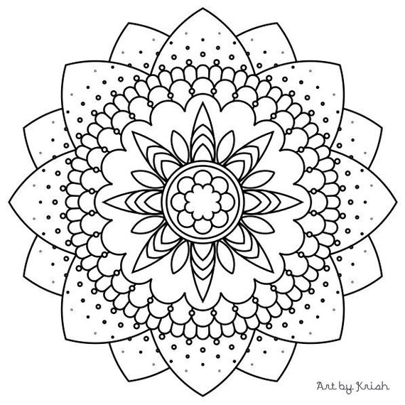 intricate mandala coloring pages free - photo#40