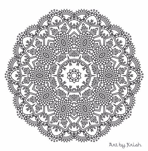 intricate mandala coloring pages free - photo#25