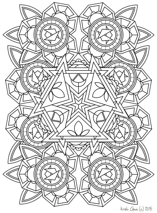 intricate mandala coloring pages free - photo#47