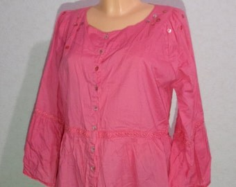 Women OILILY Blouse-Tunic long sleeve  Medium  Size