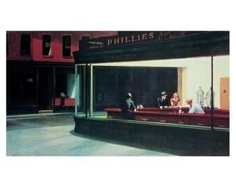 Edward Hopper Nighthawks print poster 22 x 28