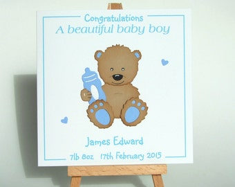 "Shop ""baby boy personalized"" in Paper & Party Supplies"