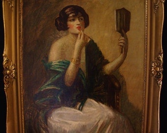 Art Nouveau Painting Hungary By Lajos Mark