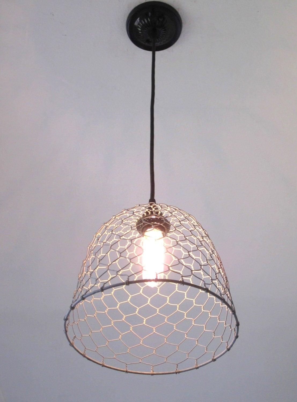 Rustic Pendant Lighting Chicken Wire Farmhouse Pendant