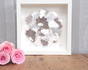 Nursery wall art - personalised wall art - new baby gift - cloud wall art