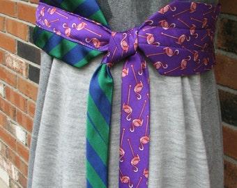 Necktie Belt - Silk Necktie Belt - Made to order Belt