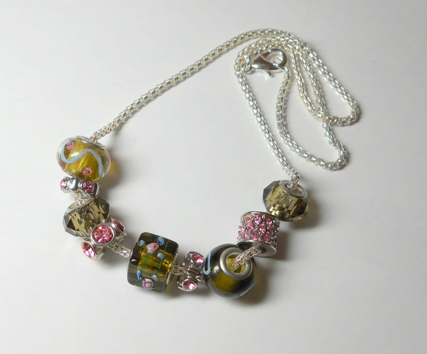 unique artisan gemstone jewelry beaded necklace by