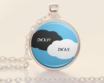 Okay Okay - Book Quote Charm - The Fault in Our Stars - John Green (B 3008)