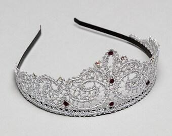 """Bobbin Lace tiara """"Charm"""""""