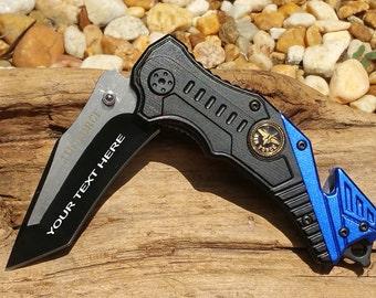 Air Force Logo Pocket knife, PK838AF, Laser Engraved , Personalized Wedding Grooms Men, Birthday, Anniversary Gift.