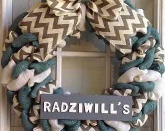 Burlap wreath - Door Wreath - Custom Wreath - Welcome Wreath - Fall Wreath - Everyday Wreath - Spring Wreath - Summer Wreath