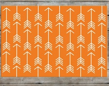 Arrow Rug, Nursery Rug, Woodland Rug, Orange Rug, Modern, Kids Room
