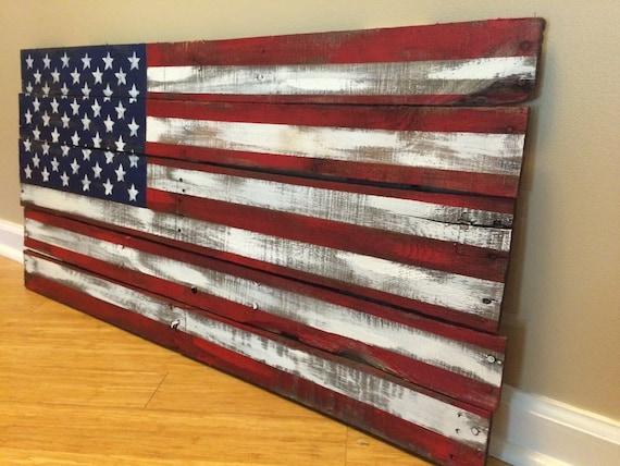 Pallet Flag, rustic reclaimed wood pallet American Flag