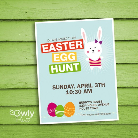 Printable Personalized Easter Egg Hunt Invitation