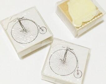 Vintage Bicycle Wooden Stamp