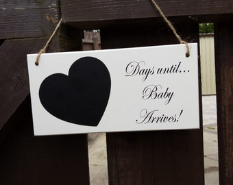 Baby Countdown plaque, Pregnancy Countdown, Baby Shower Gift, New Baby Gift, Days Until, Weeks Until, Pregnancy Gift, New Parents, 006_012