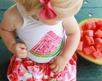 The Watermelon Picnic Skirt – You Choose Size