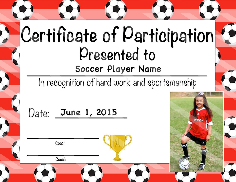 participation certificate templates