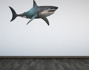 Shark Wall Decal Ocean Under the Sea Sticker Mural Boys Bedroom Wall Sticker Graphic