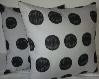 Black pillow covers,Black and gray pillows,Set of 2, shower gift, throw pillow covers, 18x18 inche, Accent pillows, decorative throw pillows