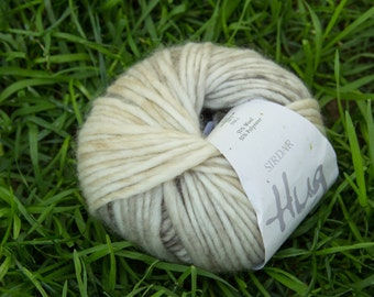 Sirdar Hug - Husky 179 (beige and brown) chunky singles yarn
