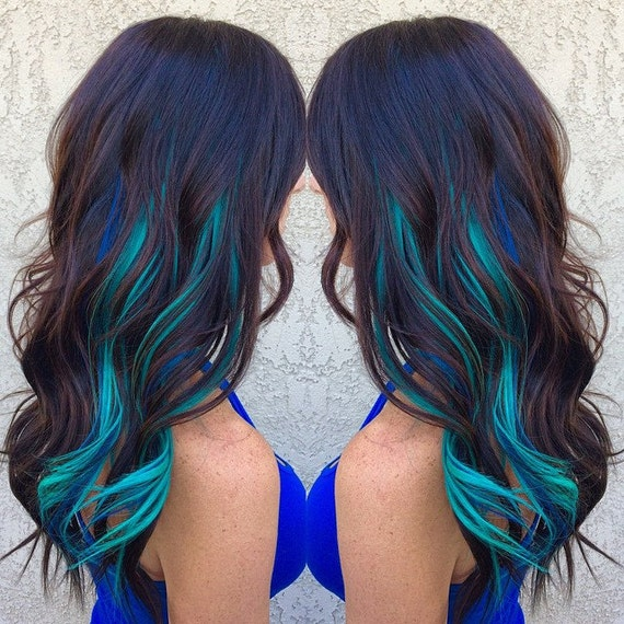 Balayage dip dye 8a remy human hair clip in colourful flashes like this item pmusecretfo Images