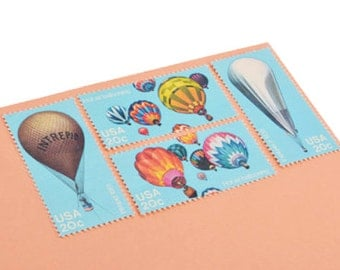 24 Hot Air Balloon Stamps - 20 cents - Unused Postage - Vintage 1983 - Quantity of 24
