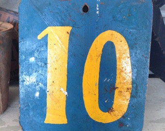 SALE- Vintage Circus Wooden Number