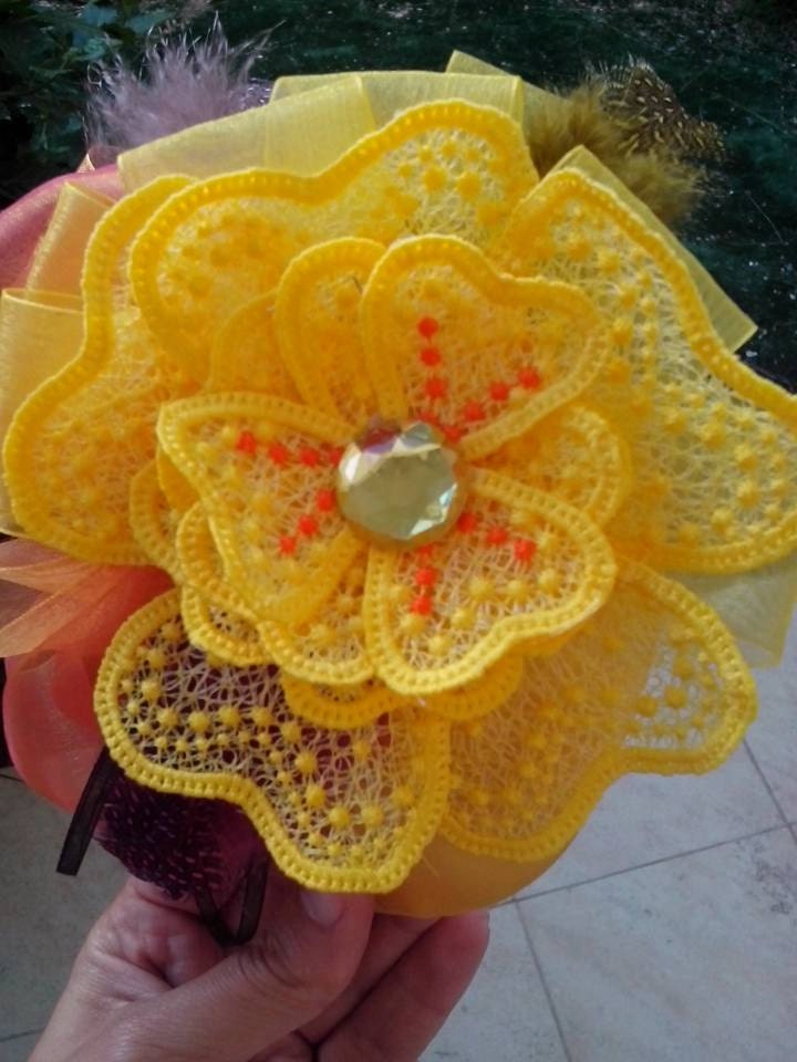 Fsl flower free standing lace embroidery design