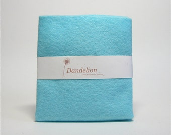 "1 Piece of Glacier Blue Wool Blend Felt 22.8cm x 30.4cm (9"" x 12"")"