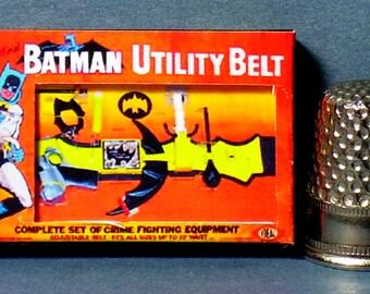 Batman Utility Belt Box - Dollhouse Miniature - 1:12 scale - Dollhouse accessory - 1960s Dollhouse Batman Superhero boy toy box