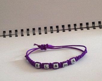Weaved/Cobra name bracelet