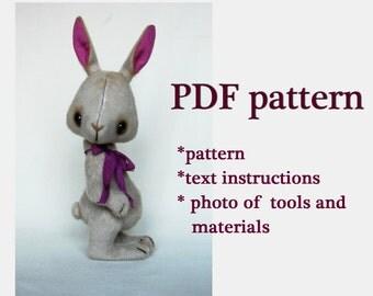 Teddy toy sewing tutorial Stuffed toy pdf tutorial Teddy bear pattern Teddy toy Rabbit toy sewing tutorial Rabbit animal toy sewing pattern