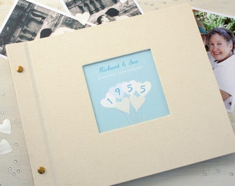 Personalised Diamond Wedding Anniversary Photo Album