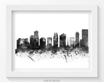 Orlando Poster, Orlando Skyline, Orlando Cityscape, Orlando Print, Orlando Art, Orlando Decor, Home Decor, Gift Idea 02BW