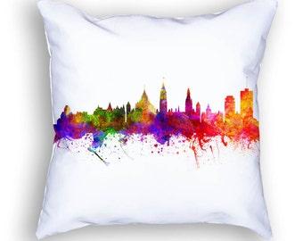 Ottawa Pillow, Ottawa Ontario, Ottawa Canada, Ottawa Skyline, Ottawa Cityscape, 18x18, Cushion Home Decor, Gift Idea, Pillow Case 02