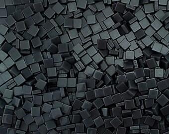 Resin mosaic tiles, 5x5 mm, Opaque effect, Storm Gray