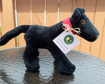 Handmade Huggables, 'Hunter' Stuffie. Greyhound Dog Stuffed Toy. Character in books Hunter Comes Home & Hunter's Garden. Soft and cuddly!