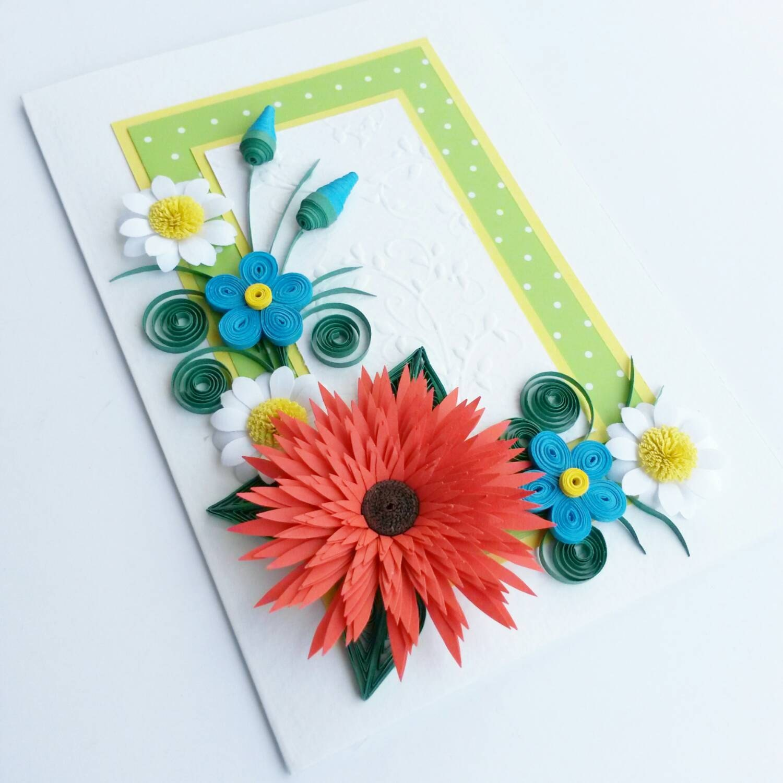 Quilled birthday card Mom Birthday Card Handmade Greeting