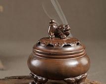 The Lion Incense Holder/burner Collectible Aroma Scent Burner Sculpture Figurine