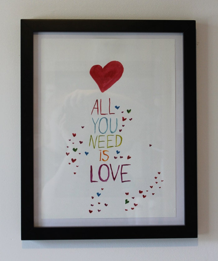 Wall Decor All You Need Is Love : All you need is love wall art downloadable by amberjaneartwork