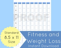 popular items for weight loss tracker on etsy