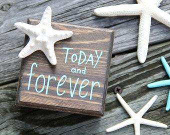 CUSTOM Wooden Ring Box - Unique Ring Pillow - Personalized - Beach Wedding - Destination Wedding - Starfish