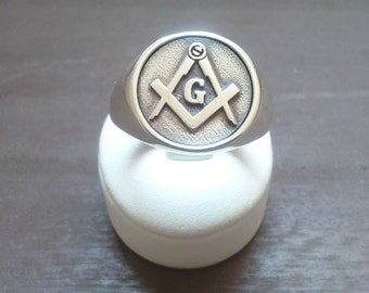 Varouxi  Mens Masonic Ring Handmade Freemasonry SILVER 925
