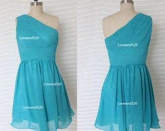 Short Chiffon Bridesmaid Dresses, Short Chiffon Prom Dress, Short Bridesmaid Dress For Wedding