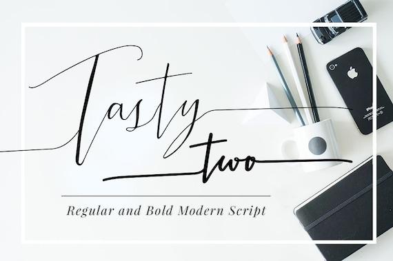 Tastytwo digital font download modern script typeface Modern script font