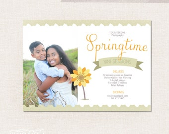 Spring Photo Mini Session Template 002 - Instant Download