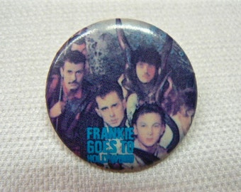 Vintage 1980s Frankie Goes To Hollywood Pin / Button / Badge