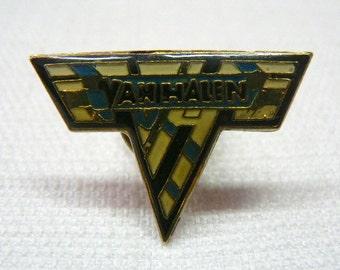 Vintage Early 80s Van Halen Logo Enamel Pin / Button / Badge