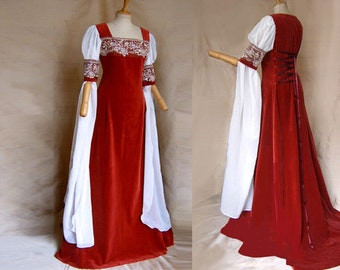Elven bride dress DALEYA Elf dress of medieval Galadriel Arwen Renaissance